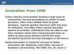 innovation from 1998