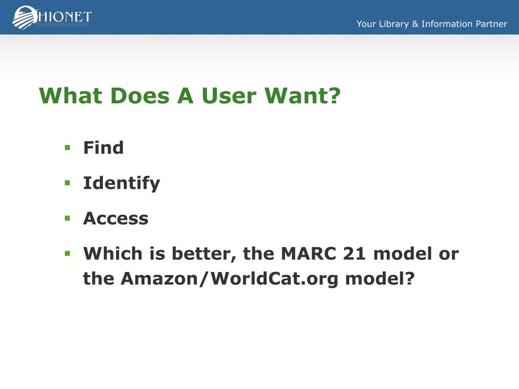 What Does A User Want?