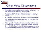 other noise observations
