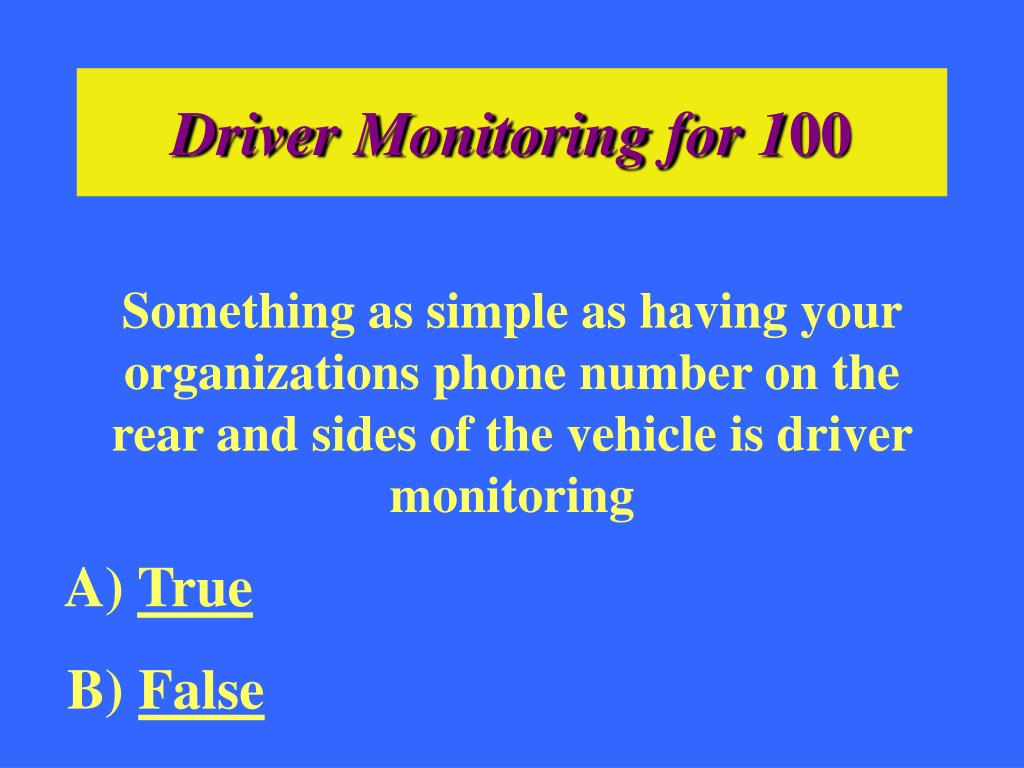 Driver Monitoring for 1