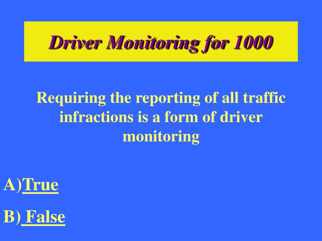 Driver Monitoring for 1000