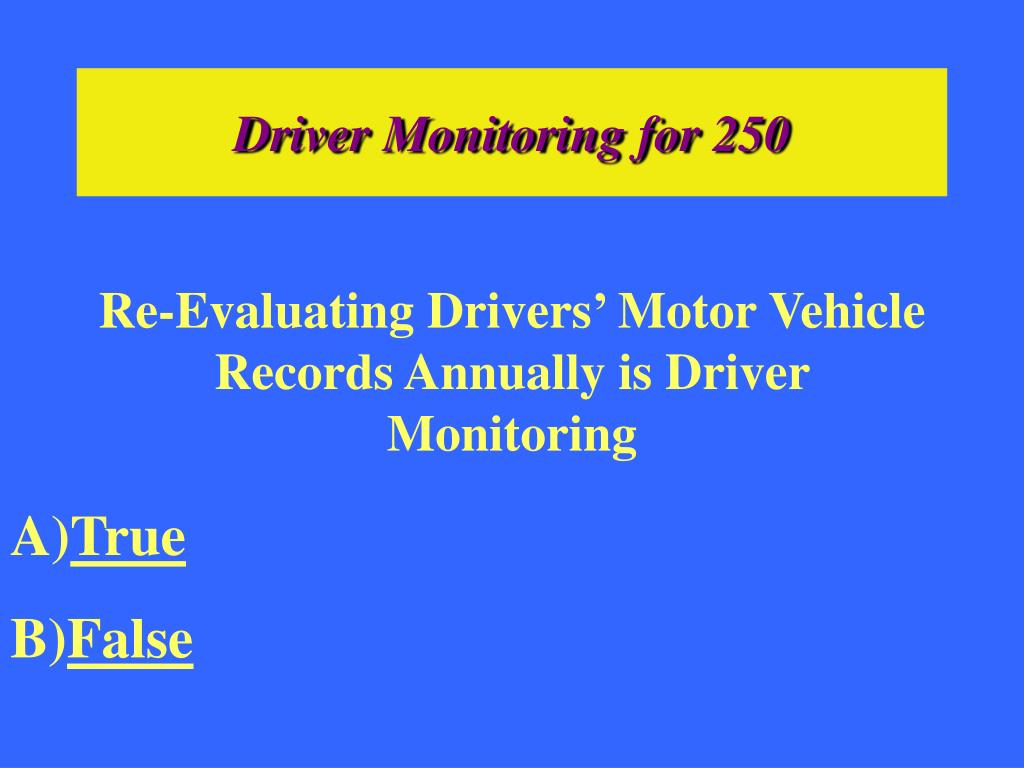 Driver Monitoring for 250