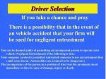 driver selection31