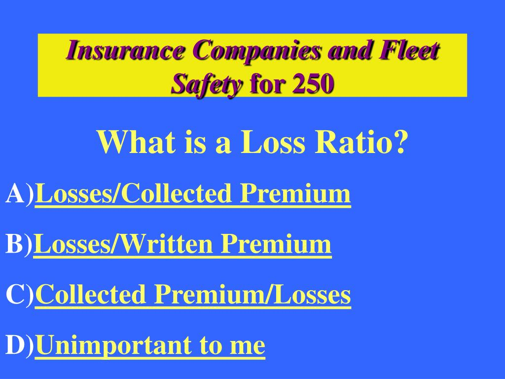 Insurance Companies and Fleet Safety