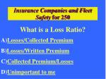 insurance companies and fleet safety for 250
