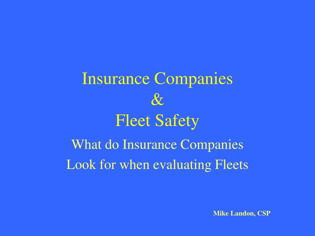 insurance companies fleet safety l.