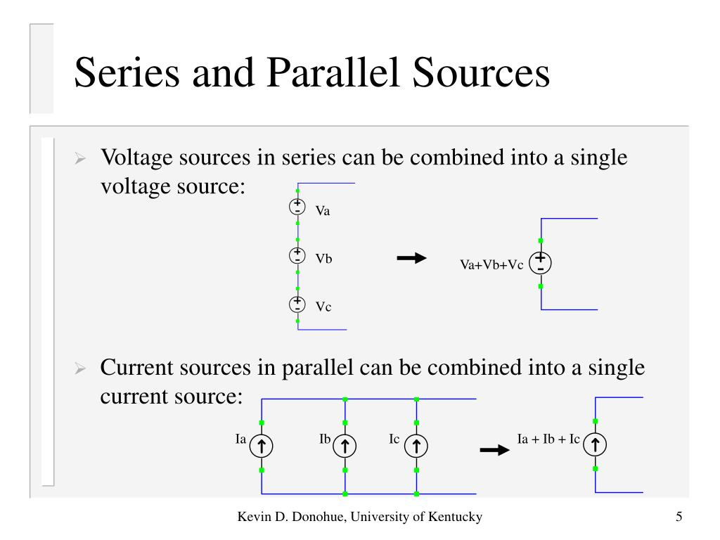 Series and Parallel Sources
