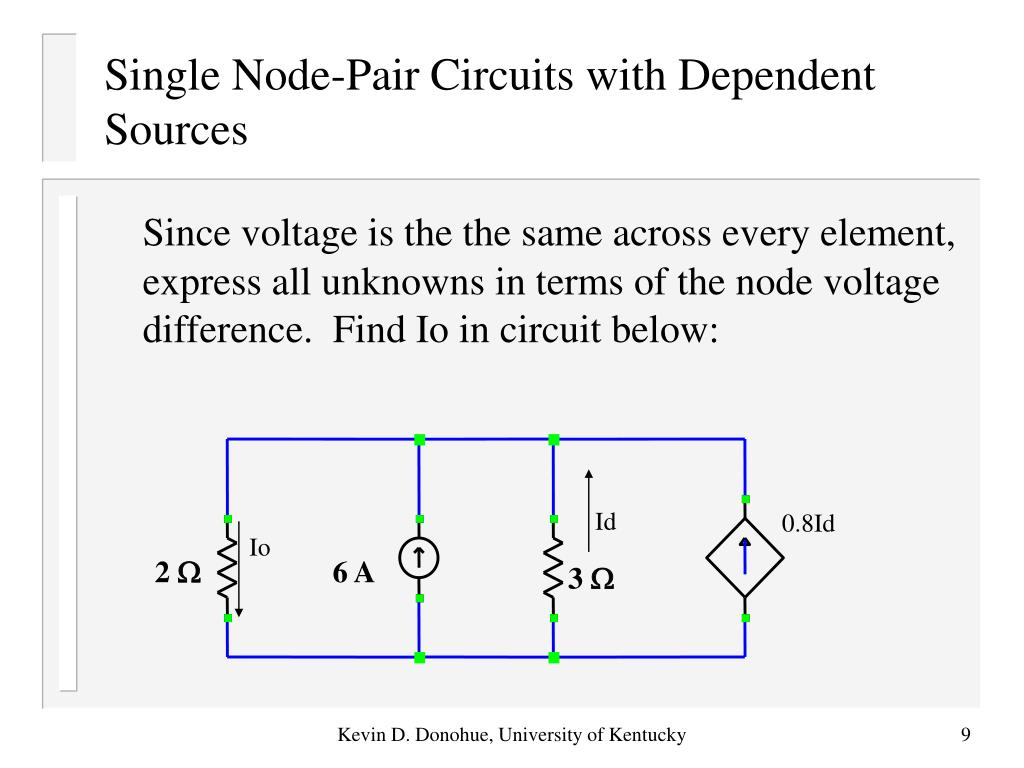 Single Node-Pair Circuits with Dependent Sources