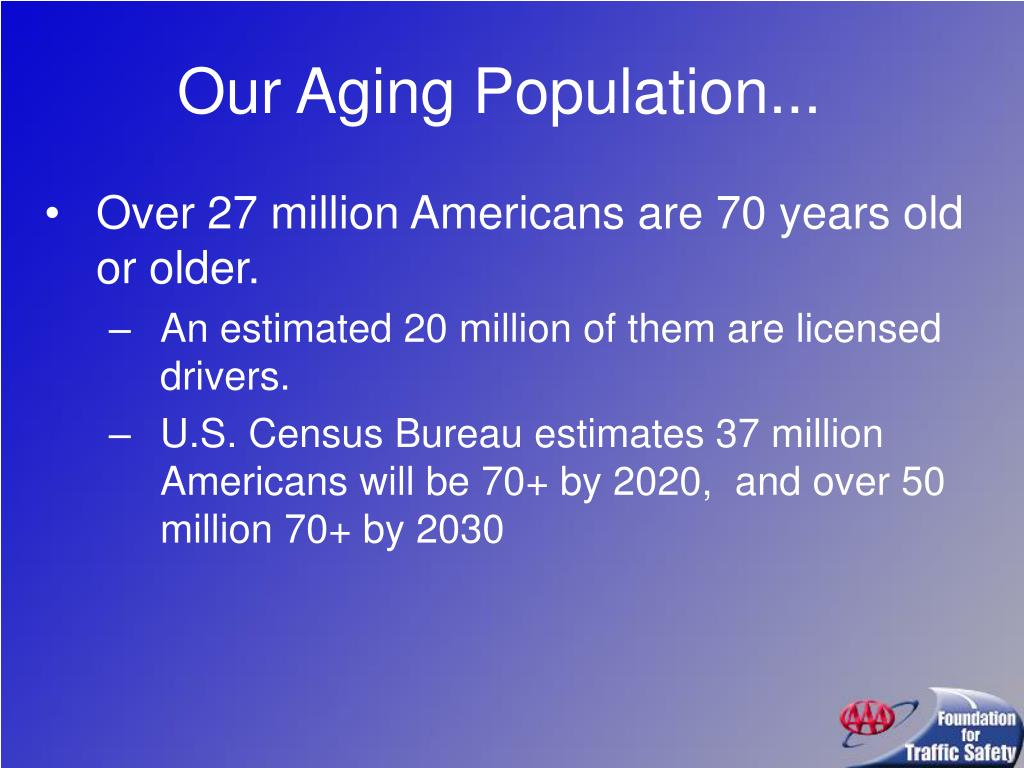 Our Aging Population...
