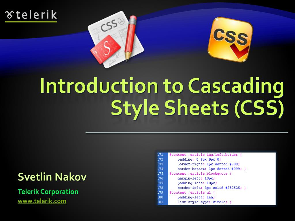 introduction to cascading style sheets css l.