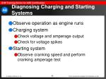 diagnosing charging and starting systems