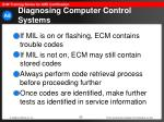 diagnosing computer control systems53