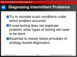 diagnosing intermittent problems30
