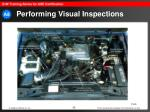 performing visual inspections32