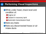 performing visual inspections33