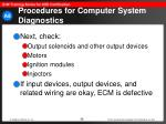 procedures for computer system diagnostics58