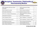 navigation seamanship shiphandling watchstanding module