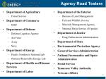 agency road testers