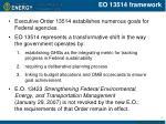 eo 13514 framework