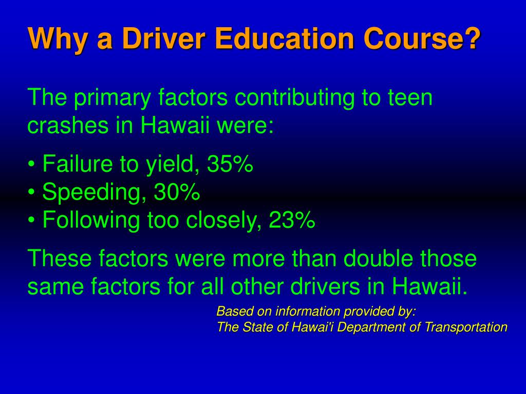 Why a Driver Education Course?