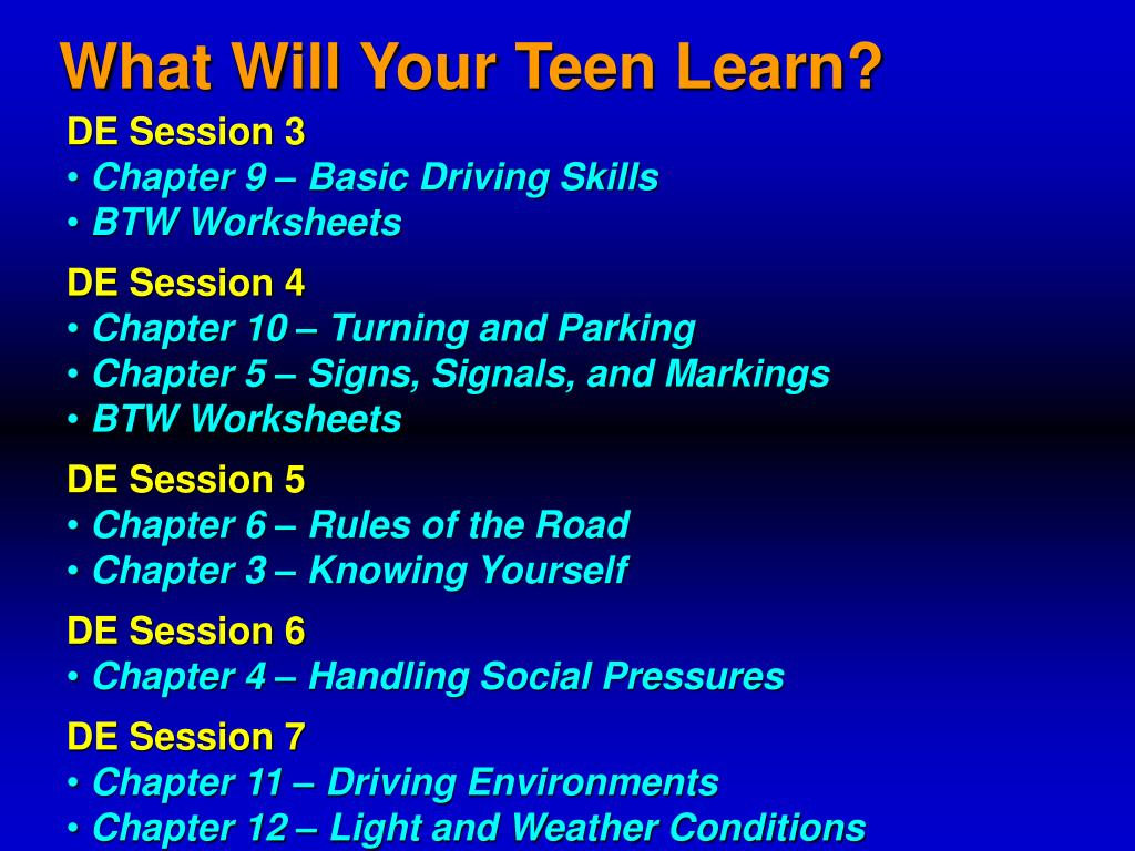 What Will Your Teen Learn?