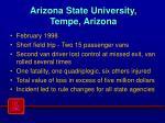 arizona state university tempe arizona