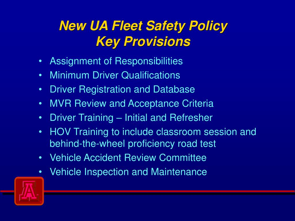 new ua fleet safety policy key provisions l.