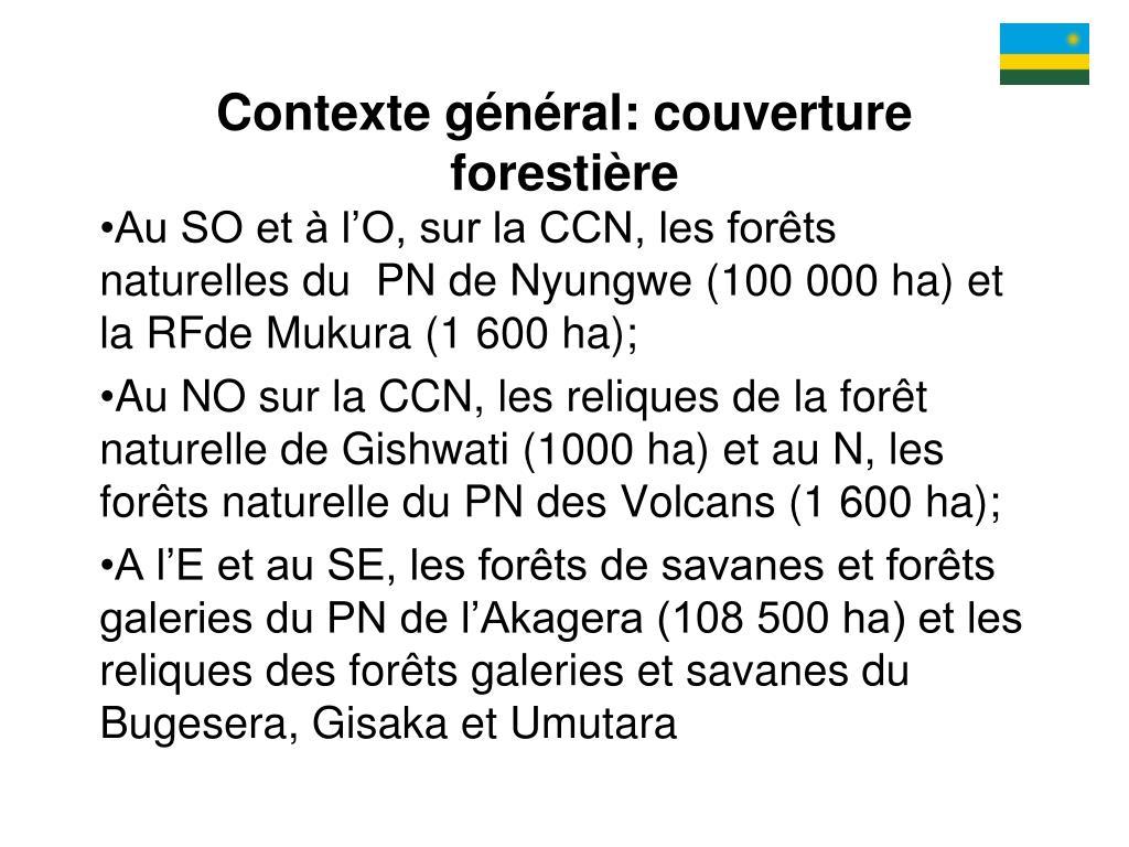 Contexte général: couverture forestière