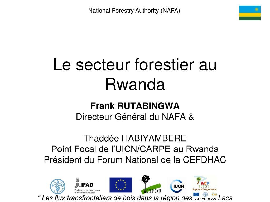 National Forestry Authority (NAFA)