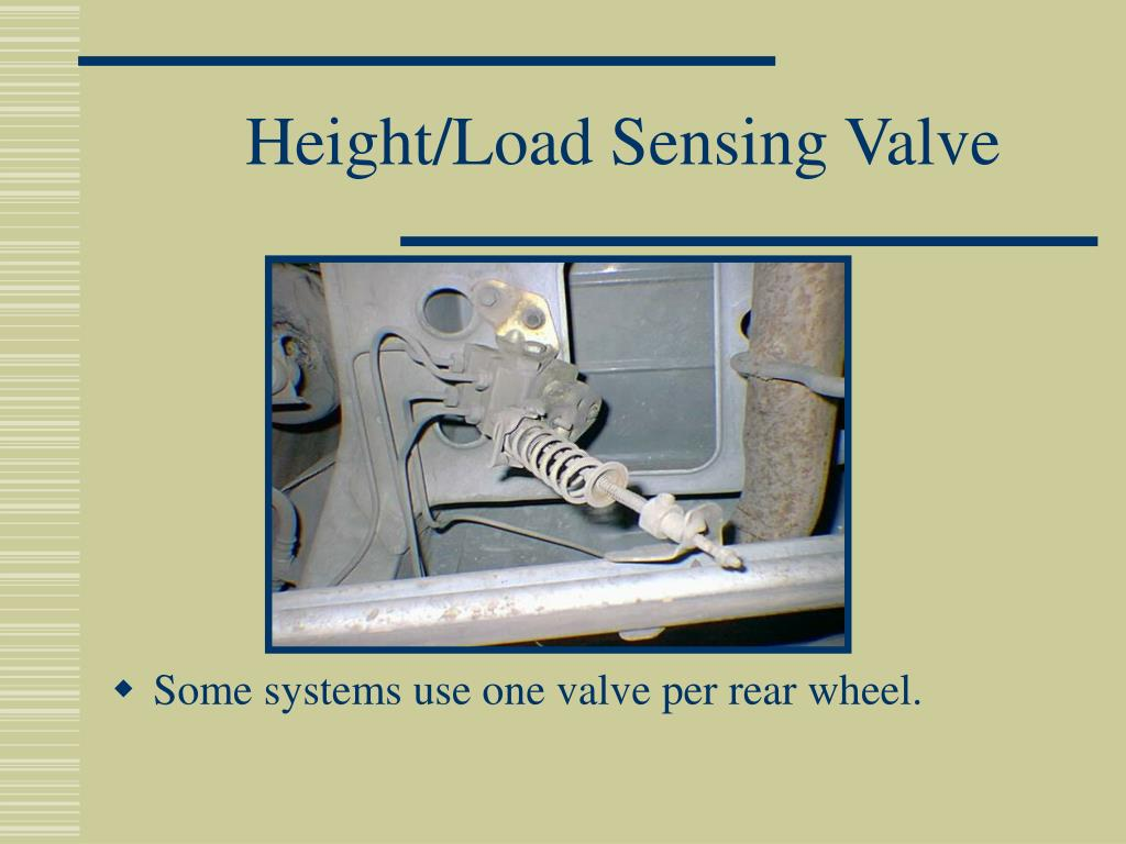 Height/Load Sensing Valve