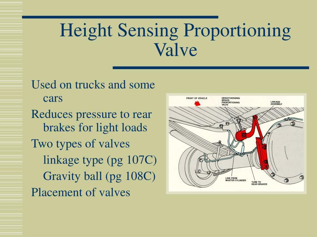 Height Sensing Proportioning Valve