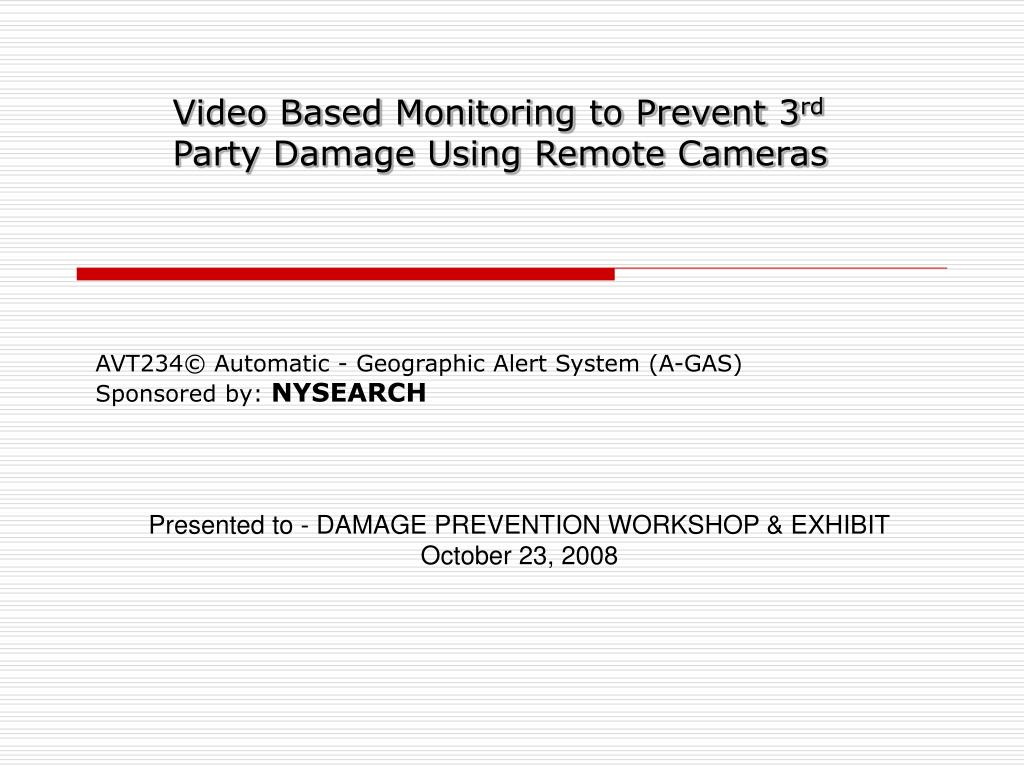 avt234 automatic geographic alert system a gas sponsored by nysearch l.