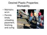 desired plastic properties workability
