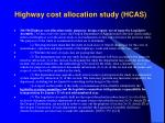 highway cost allocation study hcas