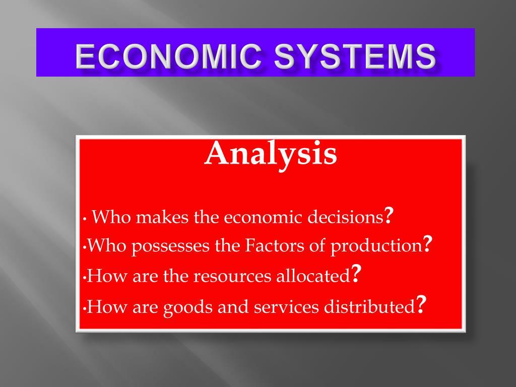 economic systems l.