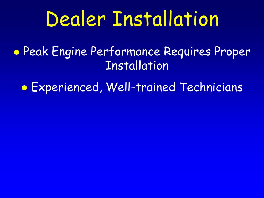 Dealer Installation