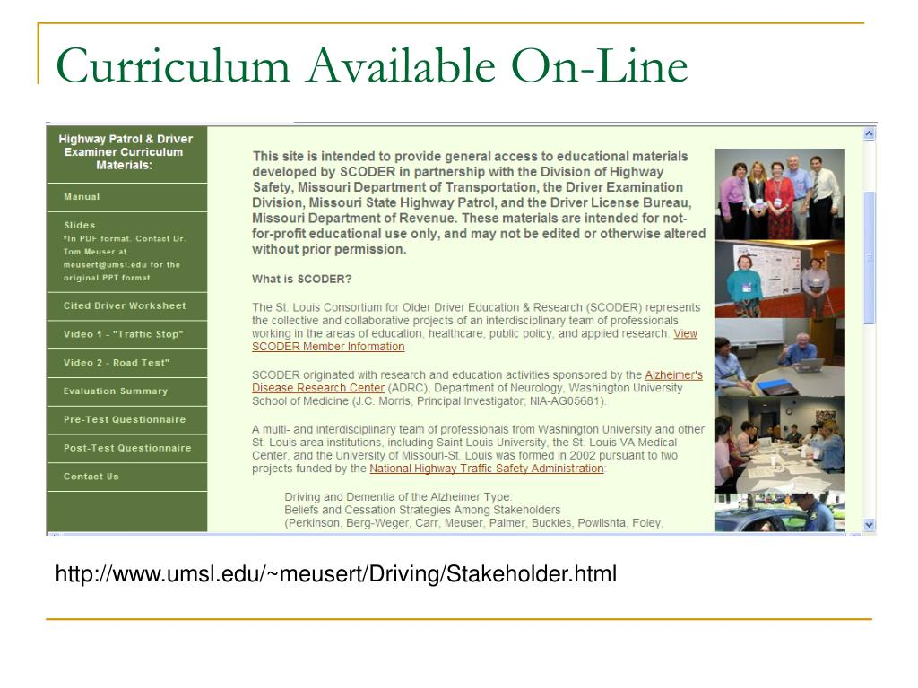 Curriculum Available On-Line