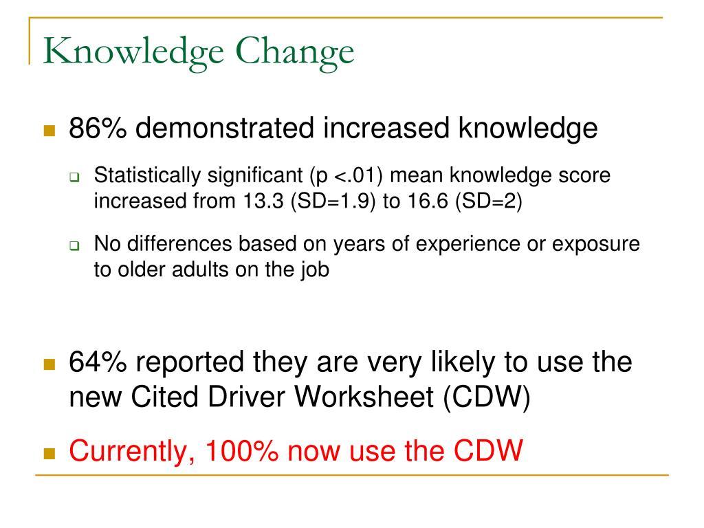 Knowledge Change