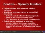 controls operator interface