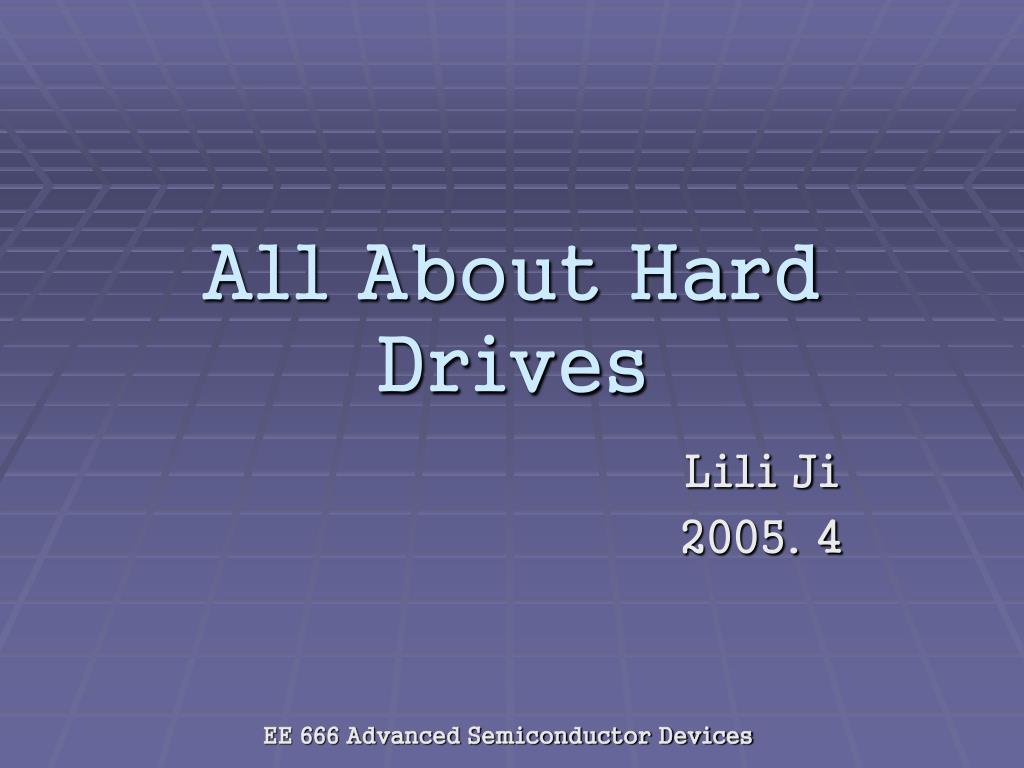 all about hard drives l.