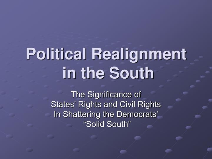 political realignment in the south n.