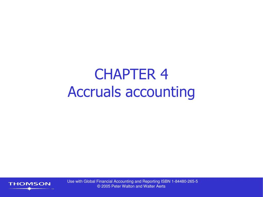 chapter 4 accruals accounting l.