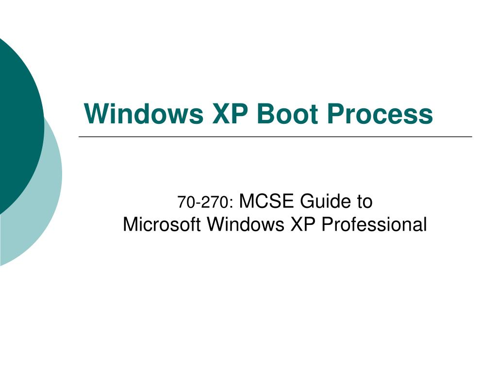 windows xp boot process l.