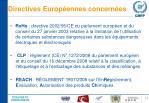 directives europ ennes concern es