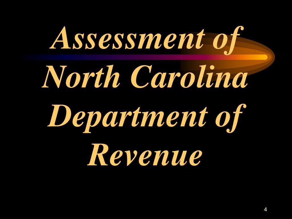 Assessment of North Carolina Department of Revenue