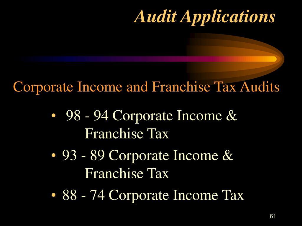 Audit Applications