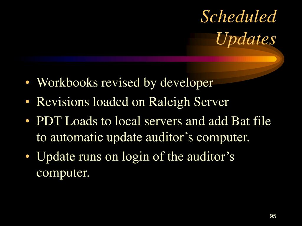 Scheduled                         Updates