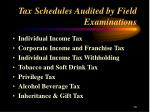 tax schedules audited by field examinations13