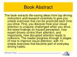 book abstract