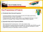 key programmes projects